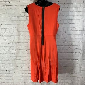dress with exposed back zipper